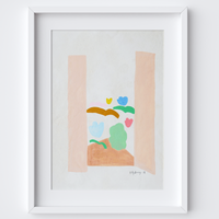 Enchanted Garden Vista Print framed print
