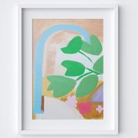 Flowing Leaves Framed Print