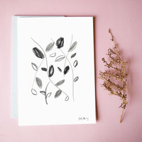 Flowing with Nature Drawing Unframed Print