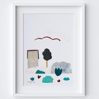 Scandi Abstract Landscape Framed Print