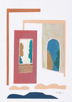 Sliding Doors Gouache Print