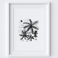 Two Blooms Framed Print
