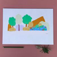 Wilderness Lake View Print