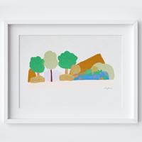 Wilderness Lake View Framed Print