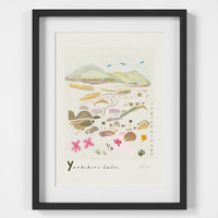 Ingleborough, Yorkshire Dales Scene Art Print created from an original painting framed