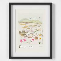 Ingleborough, Yorkshire Dales Scene Art Print created from an original painting framed