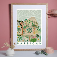 Barbican Centre Travel Poster Art Print created from an original painting framed