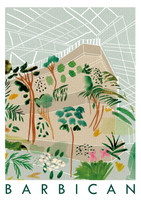 Barbican Centre Travel Poster Art Print created from an original painting unframed