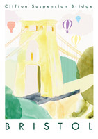 Clifton Suspension Bridge, Bristol Art Print created from an original painting unframed