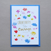 Creativity Takes Courage Matisse Quote Card