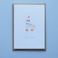 Pinata Birthday Card
