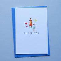 Super Dad Superhero Card