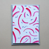 Congratulations Swirl Pattern Card