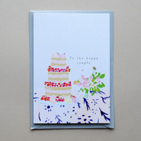 To the Happy Couple Wedding Cake Card