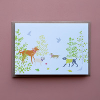 Dogs in the Park Card