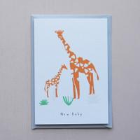 New Baby Giraffe Card