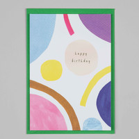 Birthday Bright Shapes Card