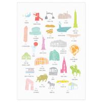 A to Z of New York City Print illustration by artist Holly Francesca.