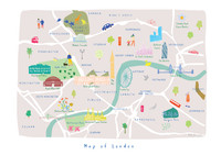 Personalised Illustrated London Map Art Print