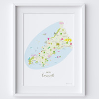 Personalised Map For Mum: Add Her Special Places