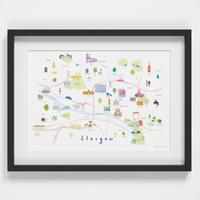 Map of Glasgow Art Print (Various Sizes)