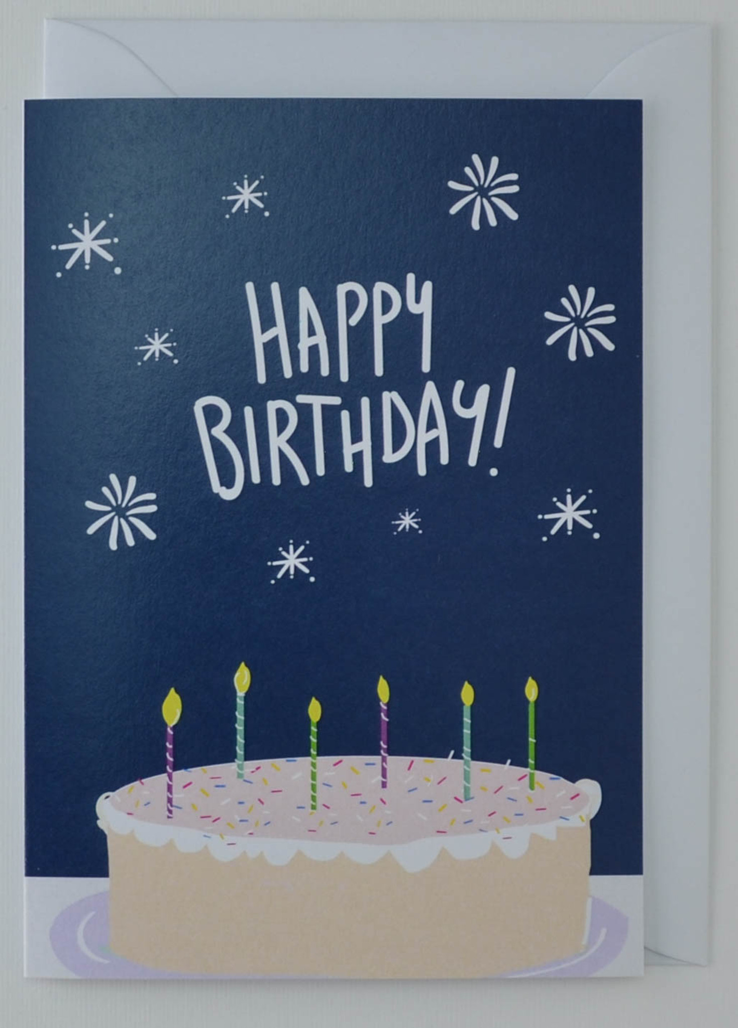 Awe Inspiring Birthday Cake Birthday Card Holly Francesca Funny Birthday Cards Online Fluifree Goldxyz