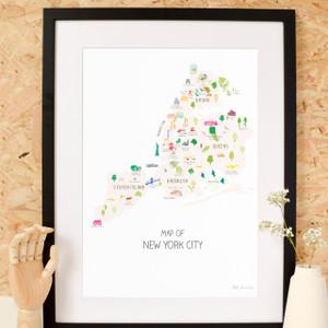 New York City - Boroughs Art Print