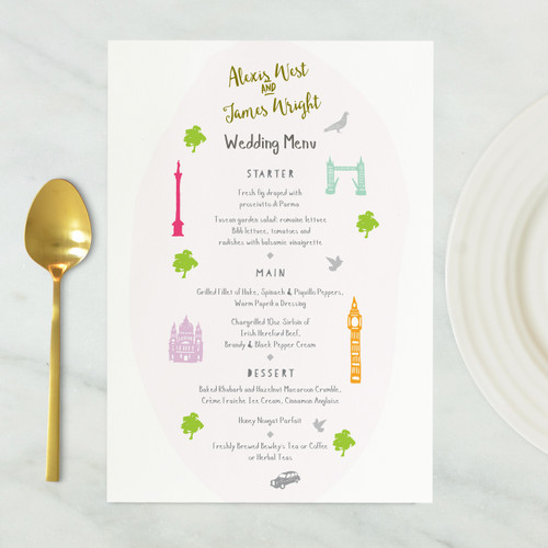 London Wedding Menu