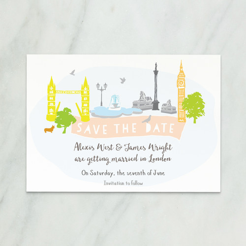 London wedding save the date cards