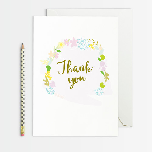 Thank You Greeting Card from the wreath set