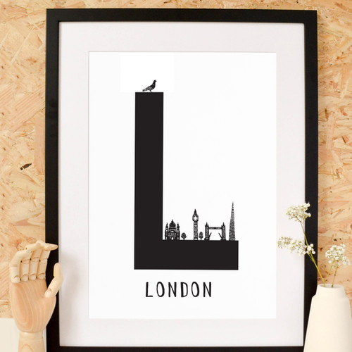 L is for London Letter Art Print