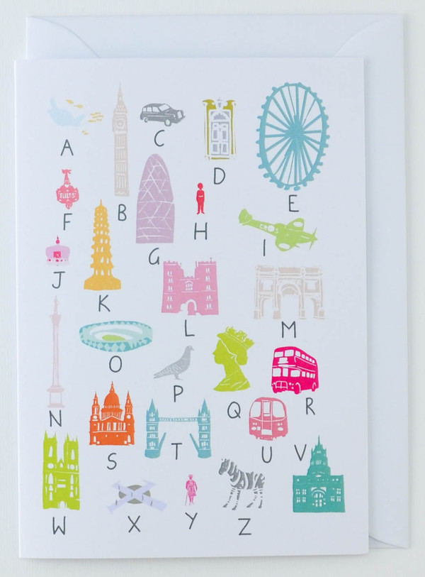 A to Z of London - Greeting Card