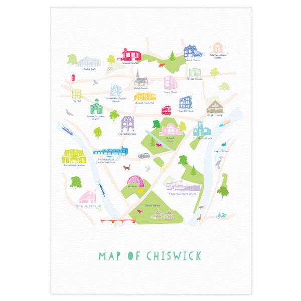 Map of Chiswick Art Print (Various Sizes)