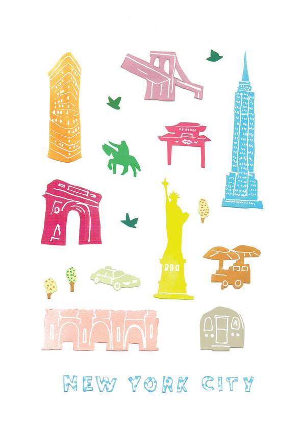 New York - Papercut Art Print (Various Sizes)