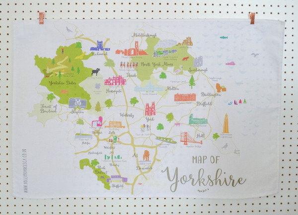 Map of Yorkshire Tea towel