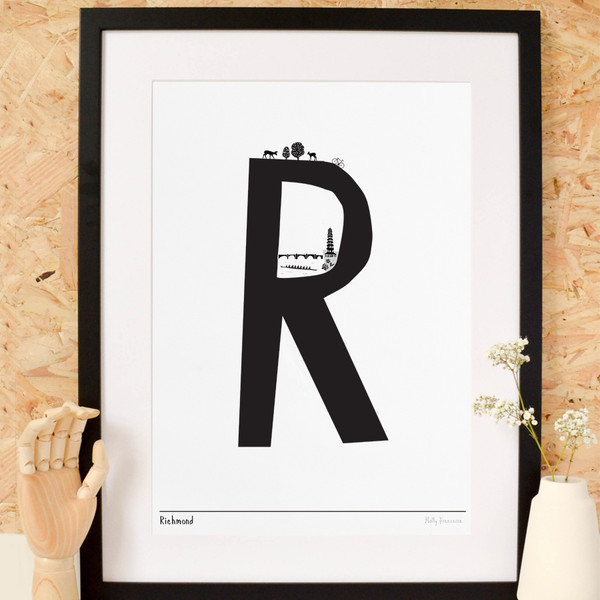 R is for Richmond Art Print (Various Sizes)