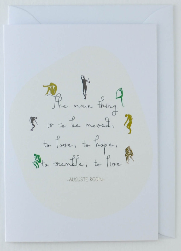 Auguste Rodin Artist's Quote - Greeting Card