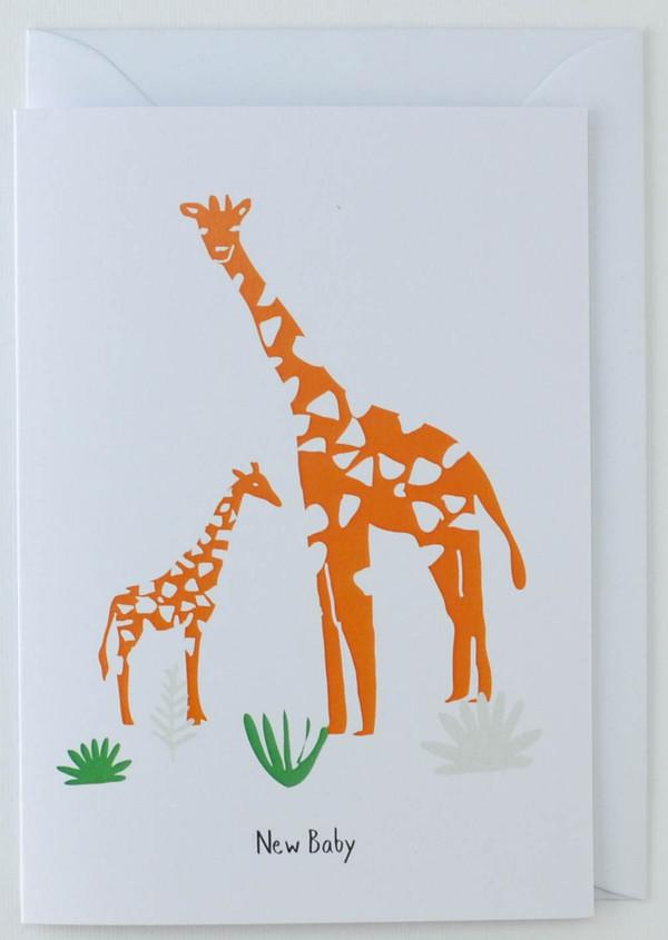 Baby Giraffe - New Born Card