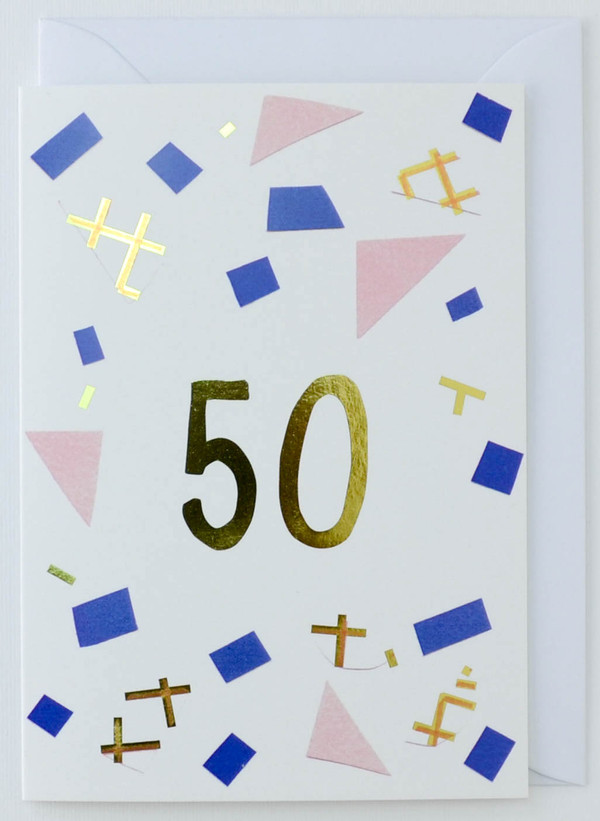 50 years old - Birthday Card