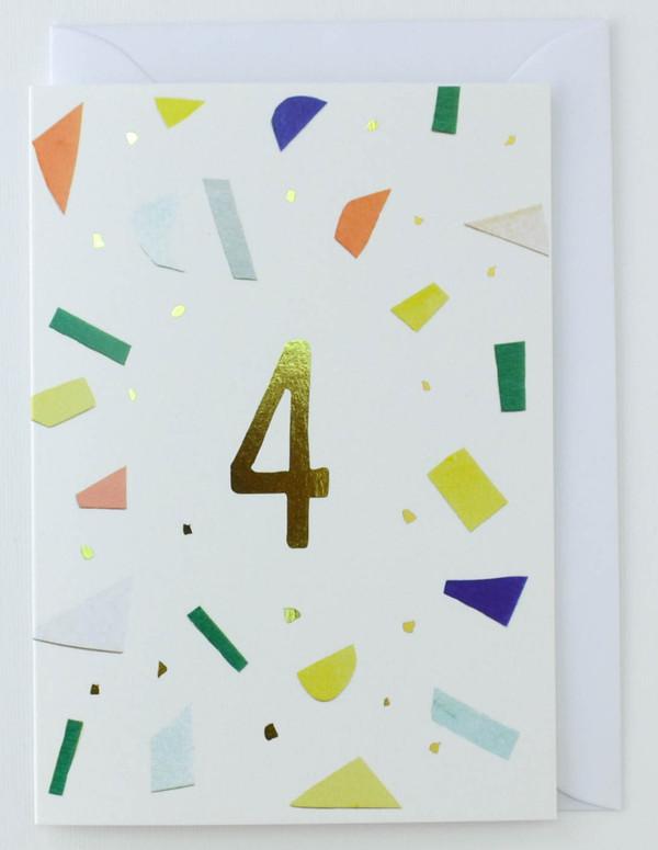 4 years old - Birthday Card