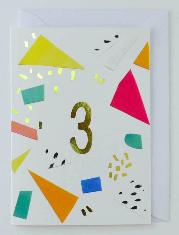 3 years old - Birthday Card