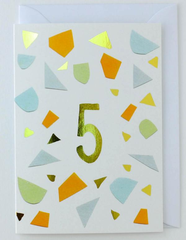 5 years old - Birthday Card