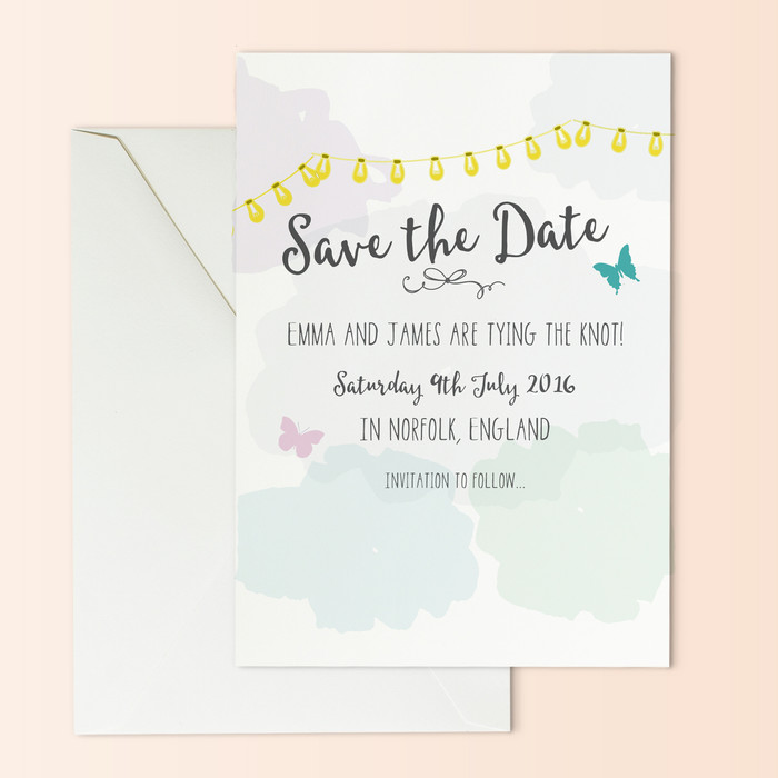 save the date cards countryside inspired