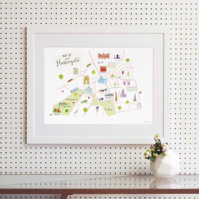 Map of Harrogate Art Print (Various Sizes)