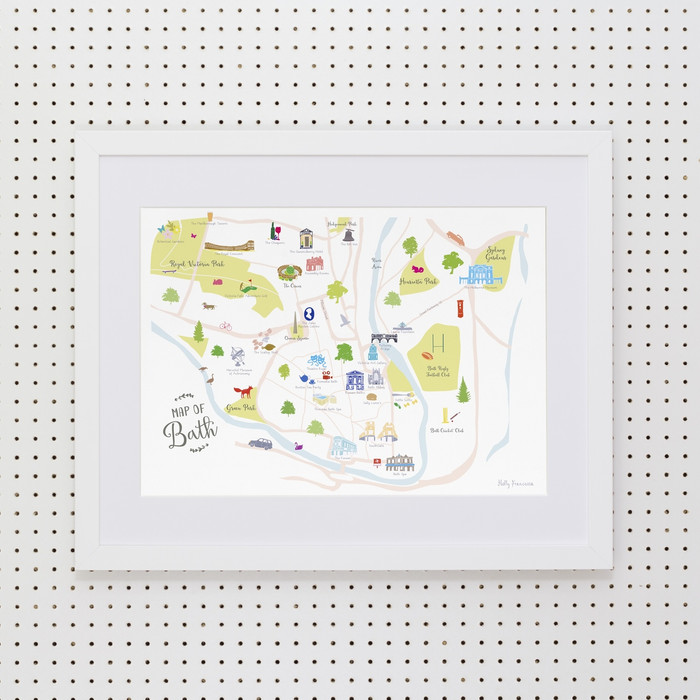 Map of Bath Art Print (Various Sizes)