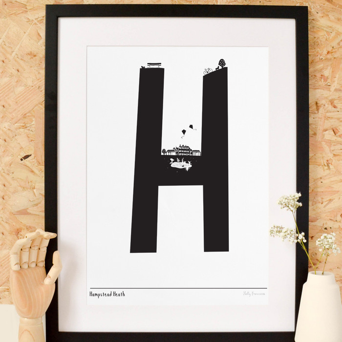 H is for Hampstead Art Print (Various Sizes)