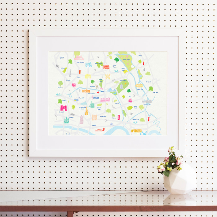 Map of East London Art Print (Various Sizes)
