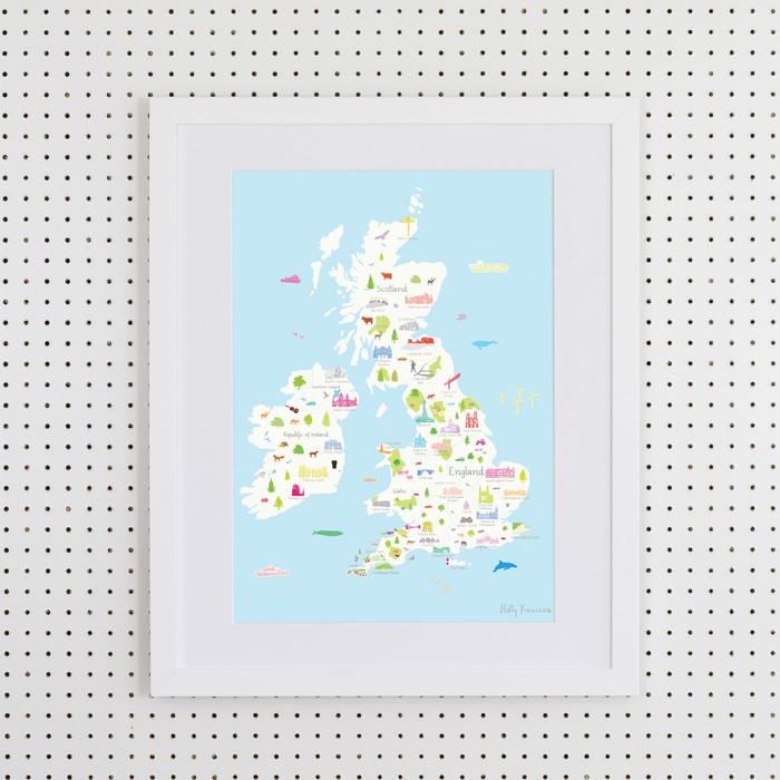 British Wonders Art Print (Various Sizes)