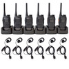 HYT TC-320 & C-Ring Headset with In-Line Push to Talk Mic & Multi-Charger. 6 Pack