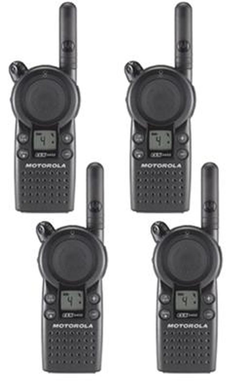 Motorola CLS1110 1 Watt 1 Channel UHF Two Way Radio 4 Pack
